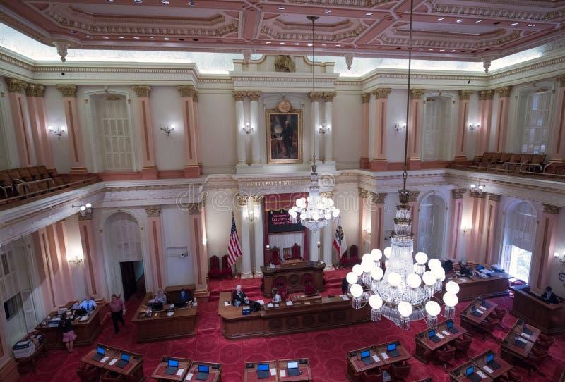 De Senaatskamers, het Capitool van de Staat, Sacramento royalty-vrije stock afbeelding