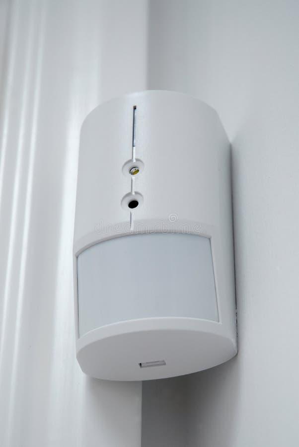 De sensor van het alarm stock afbeelding