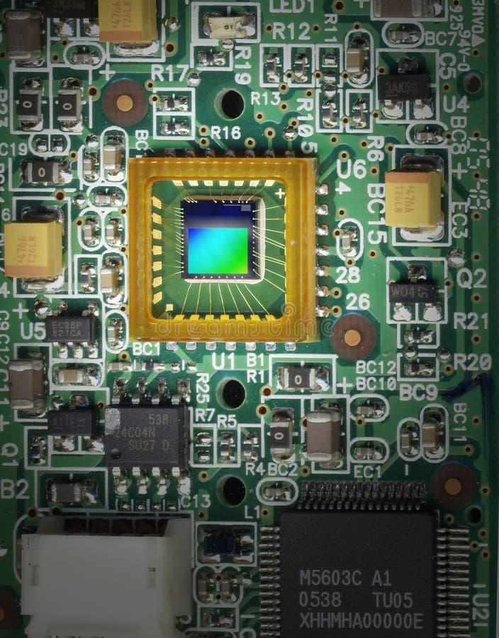 De sensor van het beeld stock fotografie