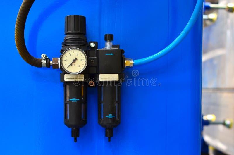 De sensor van de waterdruk in het watervoorzieningssysteem royalty-vrije stock foto