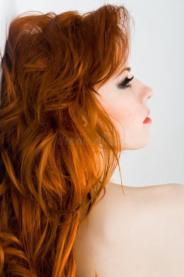 De sensualiteit van de roodharige stock foto's
