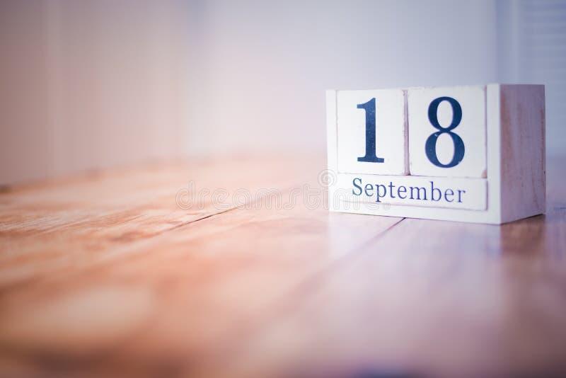 18 de septiembre - décimo octavo de septiembre - feliz cumpleaños - día nacional - aniversario foto de archivo libre de regalías