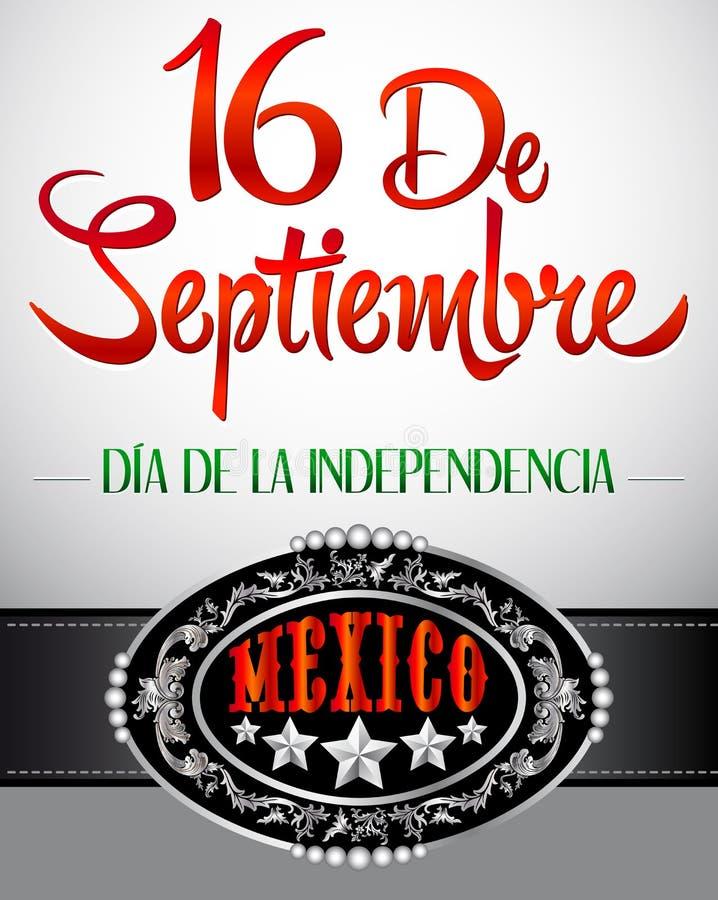 16 DE Septiembre, dia DE independencia DE Mexico vector illustratie