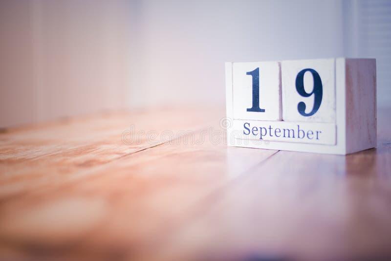 19 de septiembre - diecinueveavo de septiembre - feliz cumpleaños - día nacional - aniversario imagen de archivo