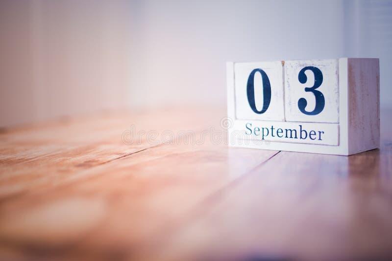 3 de septiembre - 3 de septiembre - feliz cumpleaños - día nacional - aniversario foto de archivo