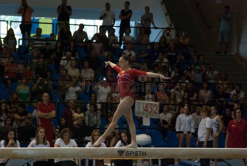 2 de septiembre de 2017 gimnasia del nacional de la mujer de Ploiesti Rumania imagen de archivo
