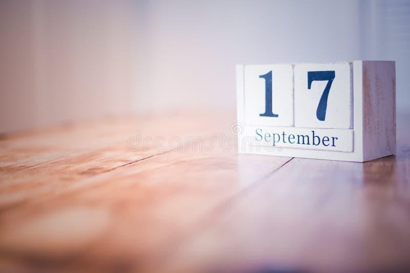 17 de septiembre - 17mo de septiembre - feliz cumpleaños - día nacional - aniversario fotos de archivo