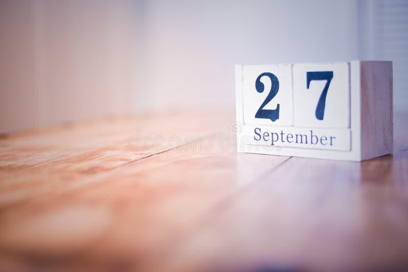 27 de septiembre - 27mo de septiembre - feliz cumpleaños - día nacional - aniversario imagen de archivo libre de regalías
