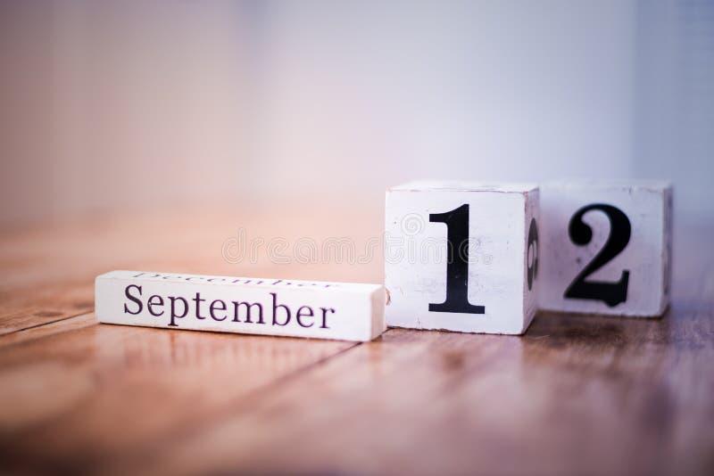 12 de septiembre - 12mo de septiembre - feliz cumpleaños - día nacional - aniversario fotografía de archivo