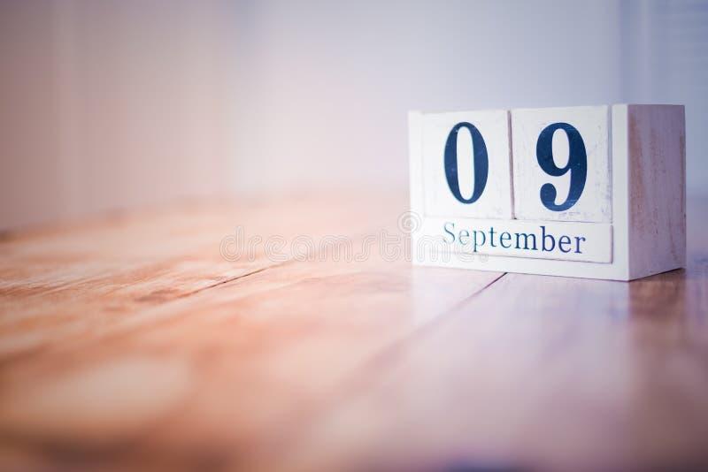 9 de septiembre - 9no de septiembre - feliz cumpleaños - día nacional - aniversario fotos de archivo