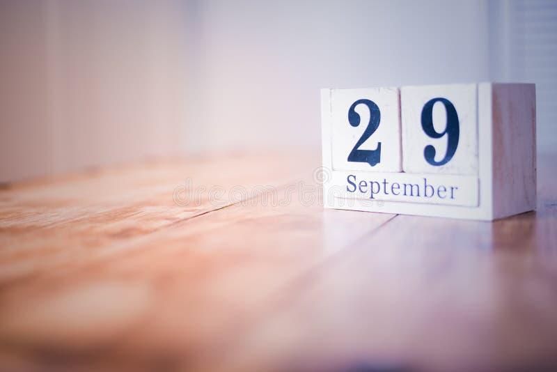 29 de septiembre - 29no de septiembre - feliz cumpleaños - día nacional - aniversario fotografía de archivo libre de regalías