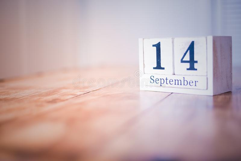 14 de septiembre - 14to de septiembre - feliz cumpleaños - día nacional - aniversario fotos de archivo libres de regalías