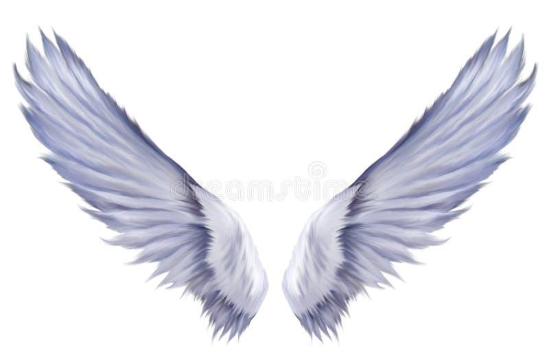 De Serafijn van de Vleugels van de engel stock foto's