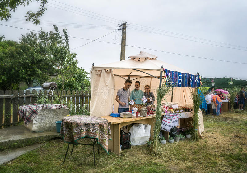 ` De Serbare Campeneasca de ` dans Visina, Tulcea, Roumanie photos stock