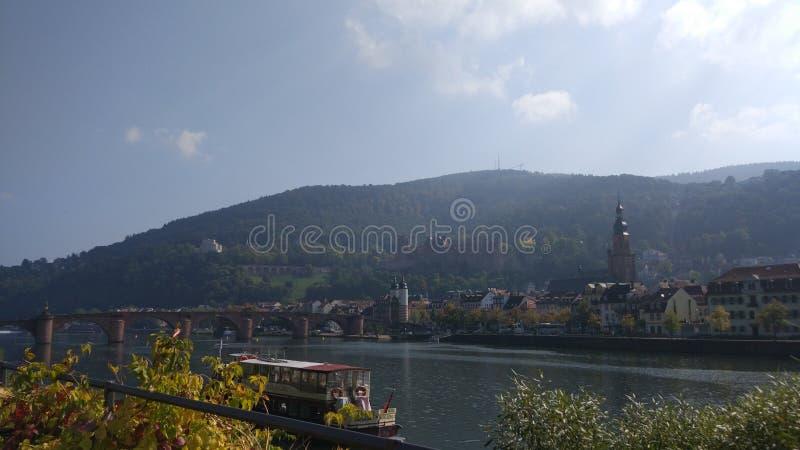De sereniteits groen landschap van Duitsland Heidelberg stock afbeeldingen