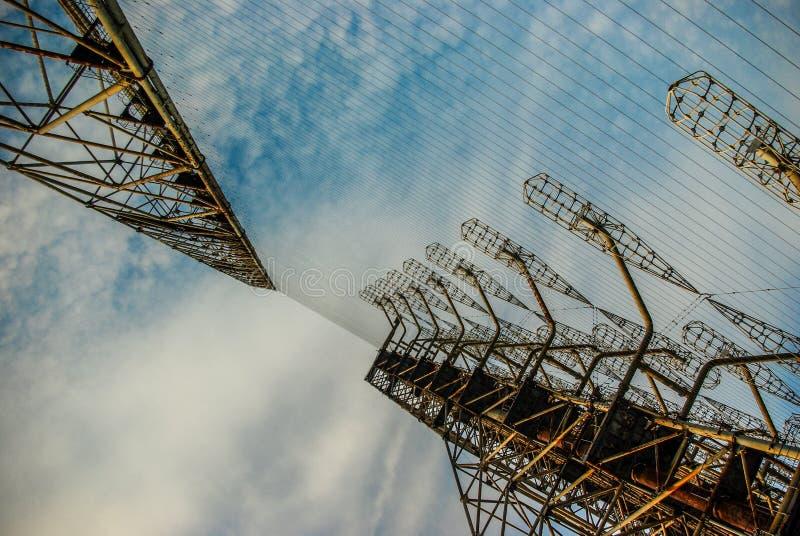 De serie DUGA van de Overhorizonantenne in de streek van Tchernobyl royalty-vrije stock foto