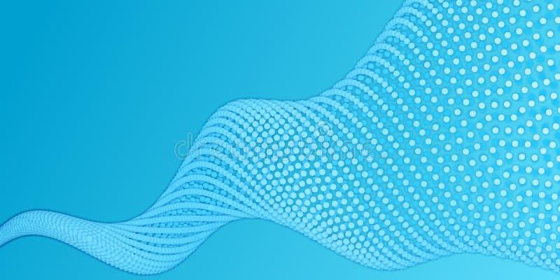 De serie van blauw document sneed cirkels met schaduwen in vorm van spiraal Abstracte geometrisch vector illustratie