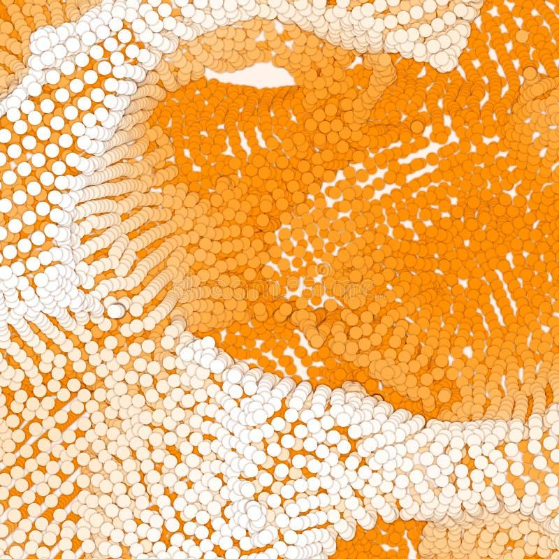 De serie van document sneed cirkels met schaduwen in vorm van stock illustratie