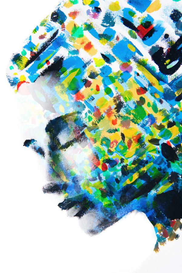 De serie van kleuren van vrouwen` s gedachten stock illustratie