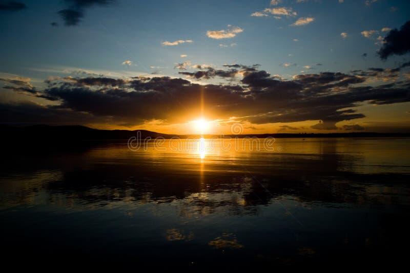 De series2-zonsondergang van de foto royalty-vrije stock fotografie