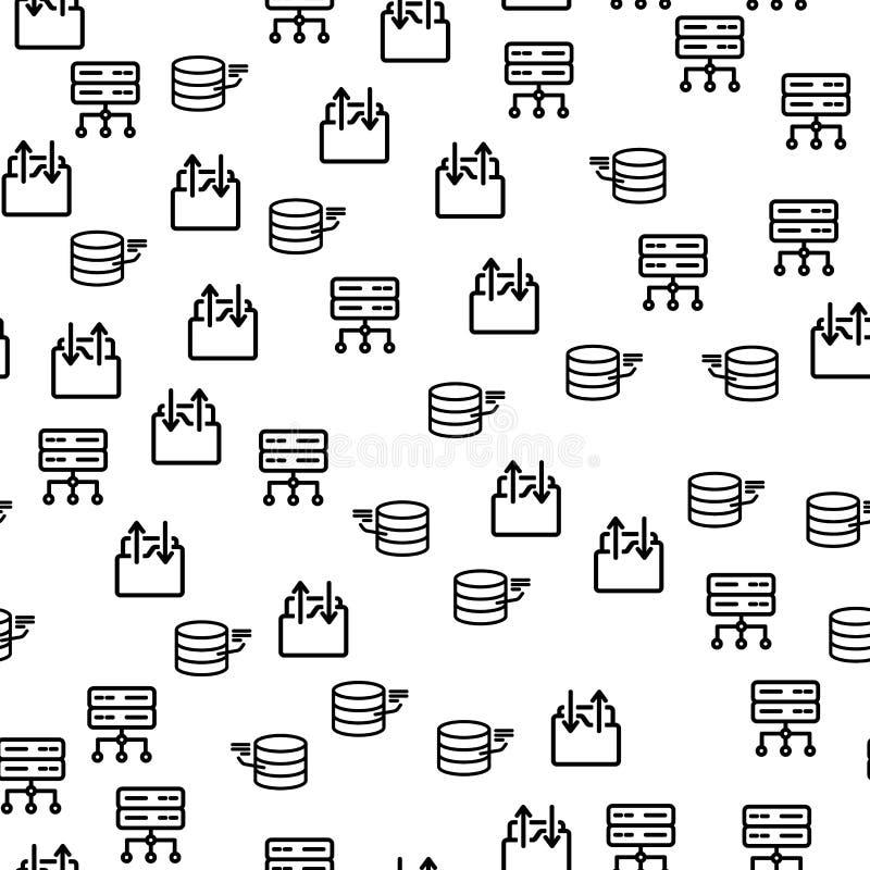 De Server Naadloos Patroon van Technologie van de Data Centerveiligheid royalty-vrije illustratie