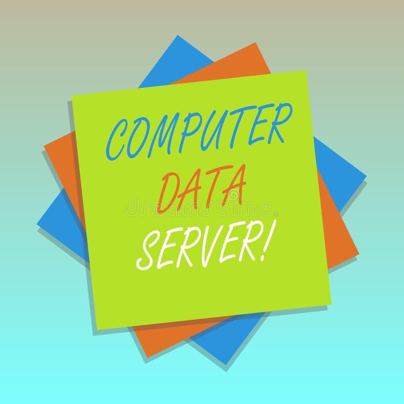 De Server van de Computergegevens van de handschrifttekst Concept die Computerplatform betekenen dat de Veelvoudige Laag van de d royalty-vrije illustratie
