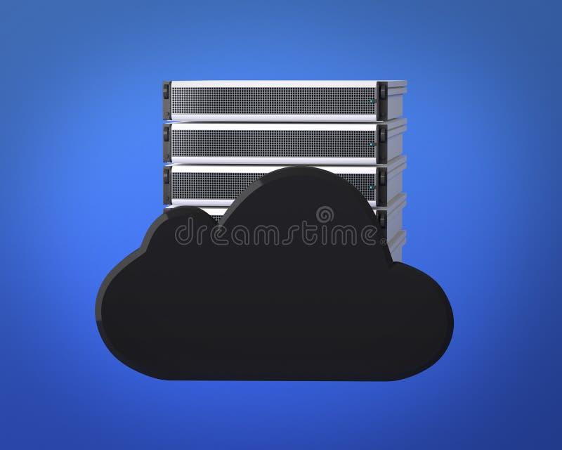 De Server van de Gegevensverwerking van de wolk vector illustratie