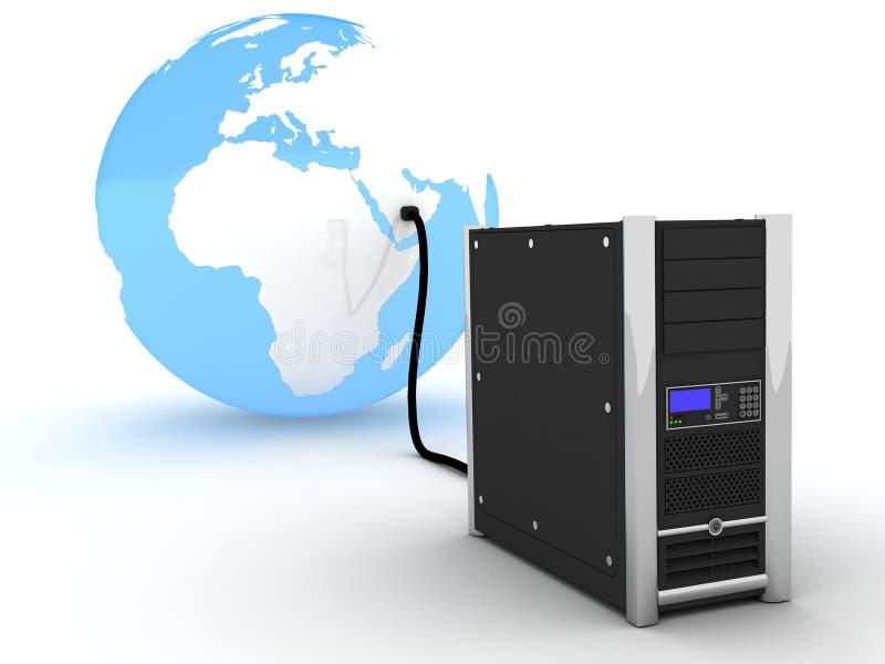 De server van de wereld stock illustratie