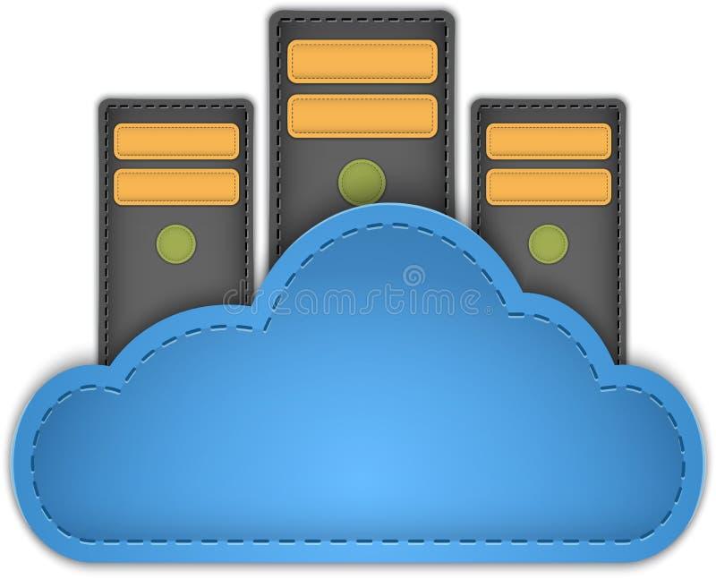De server van de wolk royalty-vrije illustratie