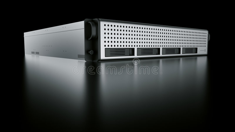 De server van het rek stock illustratie