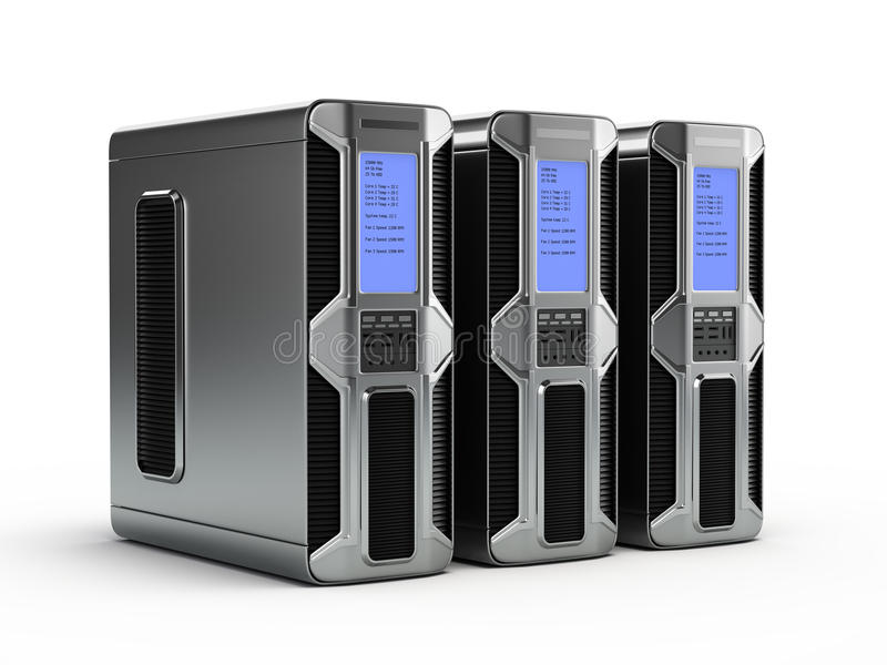 De servers van de computer vector illustratie