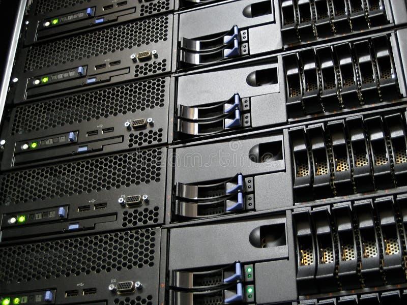 De Servers van de Computer van het Centrum van gegevens stock afbeeldingen