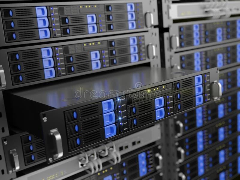 De servers van het computerrek royalty-vrije illustratie