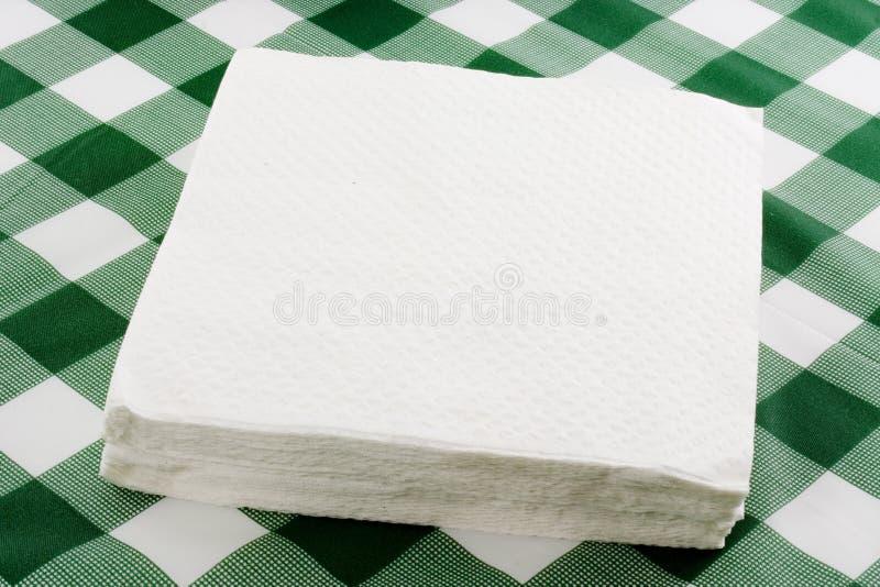 De servetten van het document stock afbeeldingen