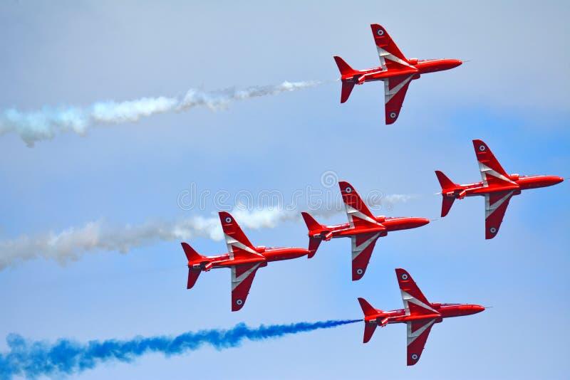 5 de SETAS VERMELHAS Royal Air Force foto de stock royalty free