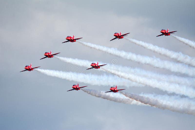 8 de SETAS VERMELHAS Royal Air Force Aviões do FALCÃO fotos de stock