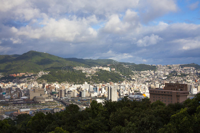 13 de setembro 2016 cidade de Nagasaki, Japão imagens de stock royalty free