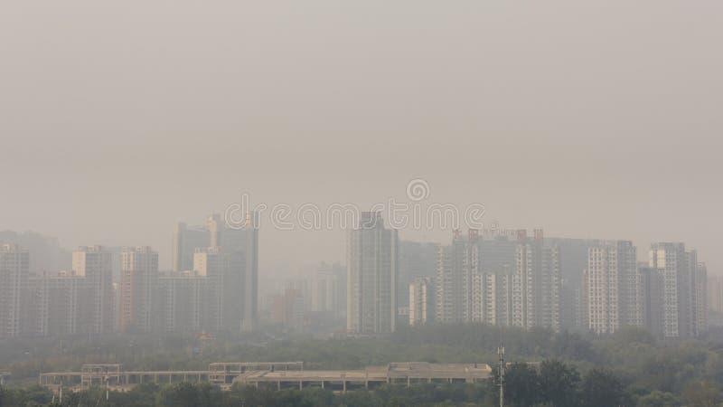 18 de setembro de 2014 - Pequim, China Tiro horizontal do ângulo largo do bui imagem de stock