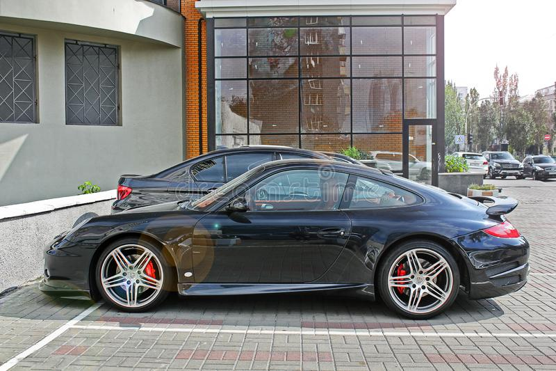 2 de setembro de 2017, Kiev - Ucrânia; Porsche 911 Carrera fotos de stock royalty free