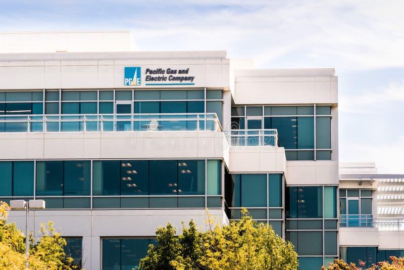 25 de setembro de 2019 San Ramon / CA / EUA - PG&E Pacific Gas and Electric Company - sede da East San Francisco Bay Area imagens de stock royalty free