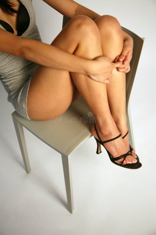 De sexy benen van het meisje stock fotografie