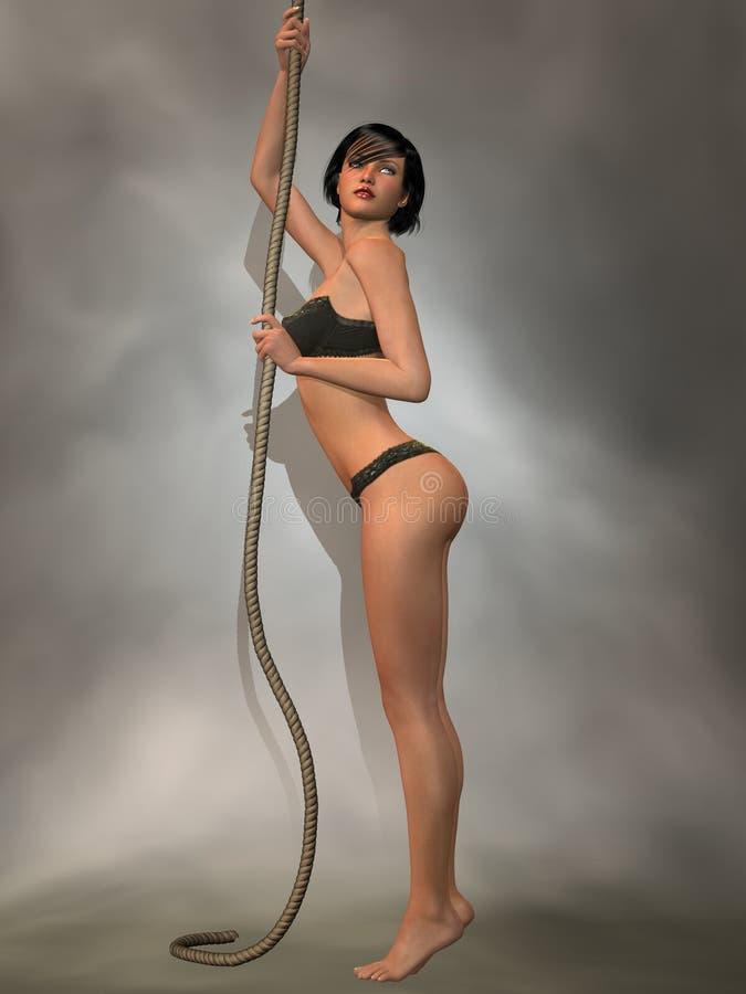 De sexy Dans van de Kabel royalty-vrije illustratie