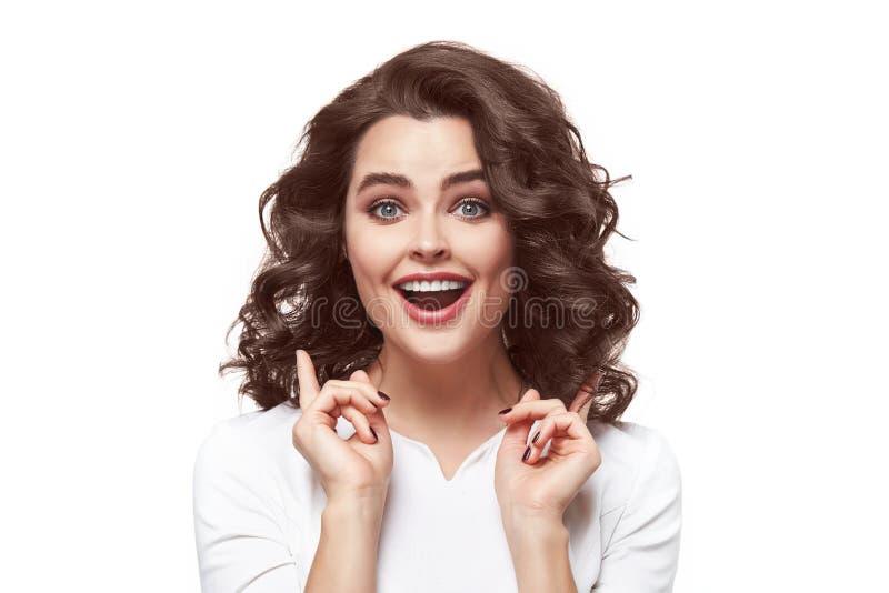 De sexy emotie van de schoonheidsvrouw royalty-vrije stock afbeelding