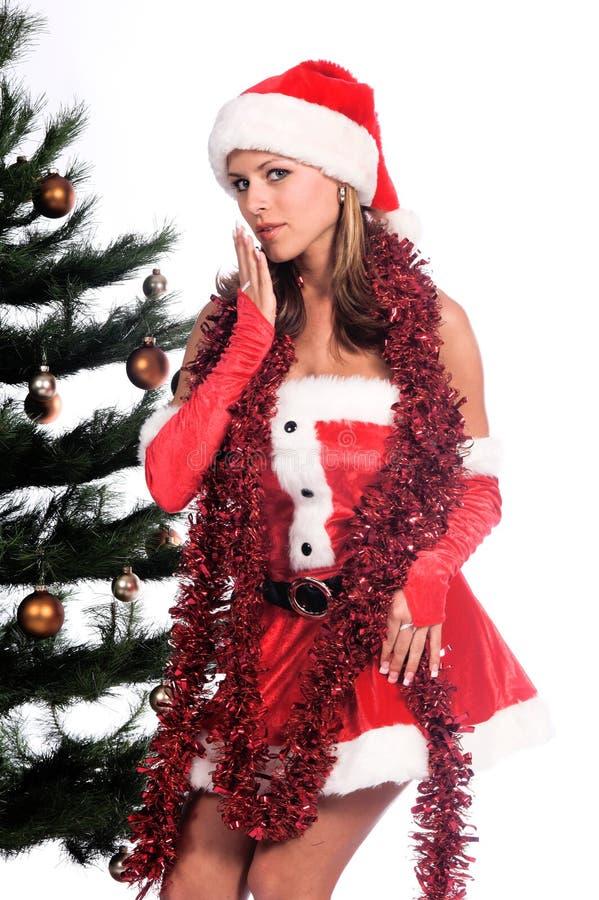 De Sexy Helper van de kerstman stock afbeeldingen