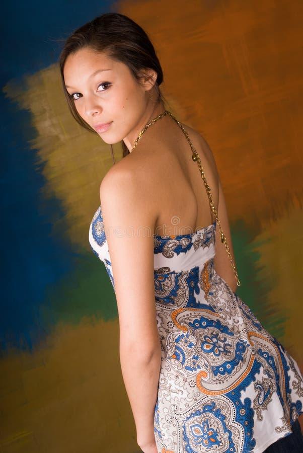 De sexy mannequin van de meisjesvrouw bruneete royalty-vrije stock afbeelding