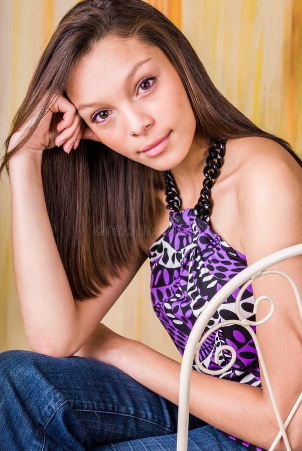 De sexy mannequin van de meisjesvrouw bruneete stock fotografie