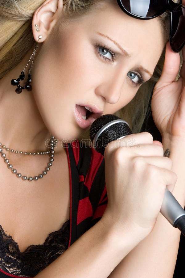 De sexy Vrouw van de Muziek royalty-vrije stock foto