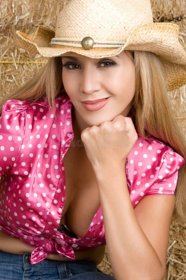 De sexy Vrouw van het Land stock fotografie