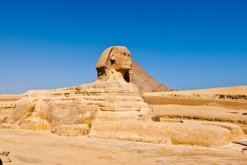 De sfinx in Egypte royalty-vrije stock fotografie