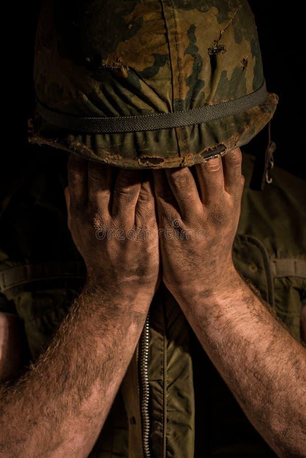 De Shell geschokte Marine van de V.S. - de Oorlog van Vietnam royalty-vrije stock foto